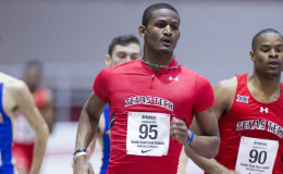 Arkansas Invitational Track Meet in Fayetteville Arkansas.  Photography of Texas Tech Red Raiders Men's and Wonmen's Track Team.  January 15, 2016 at the Randal Tyson Track Center  Photography by Wesley Hitt